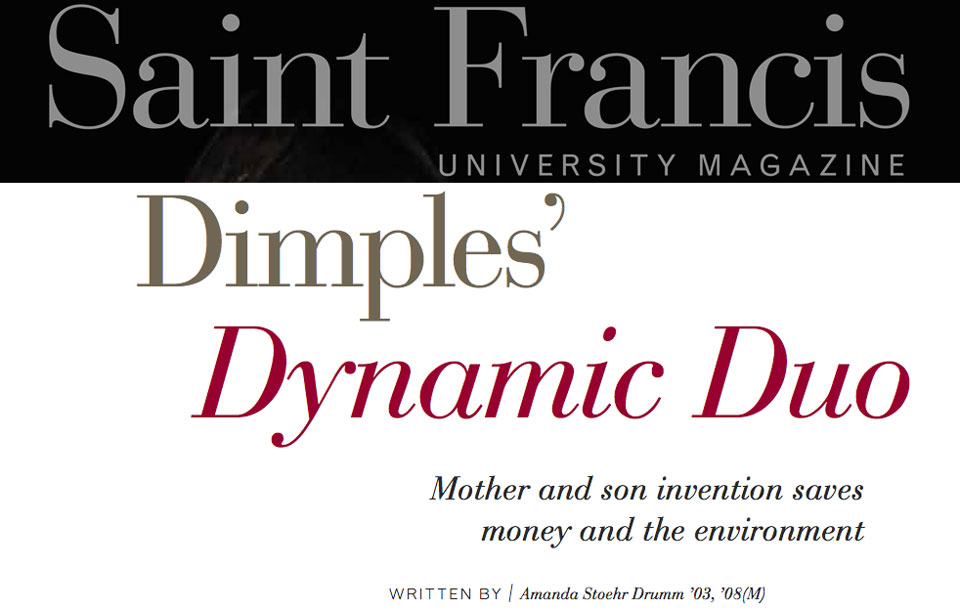 """Dimples' Dynamic Duo"" in University Magazine"