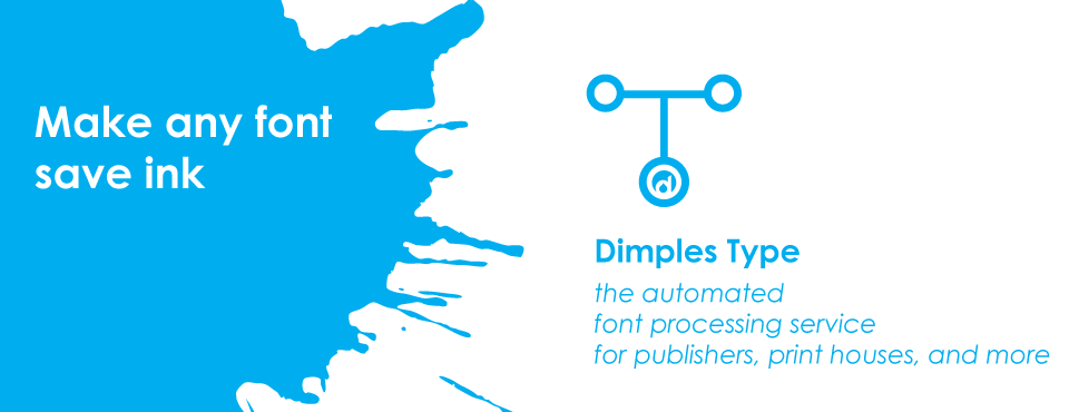 Add ink-saving features to your publication's typography