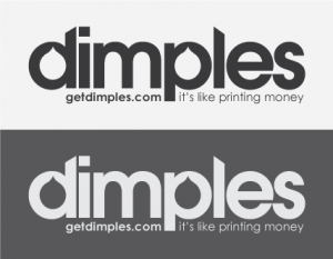 Light and dark previews of DImples' logo